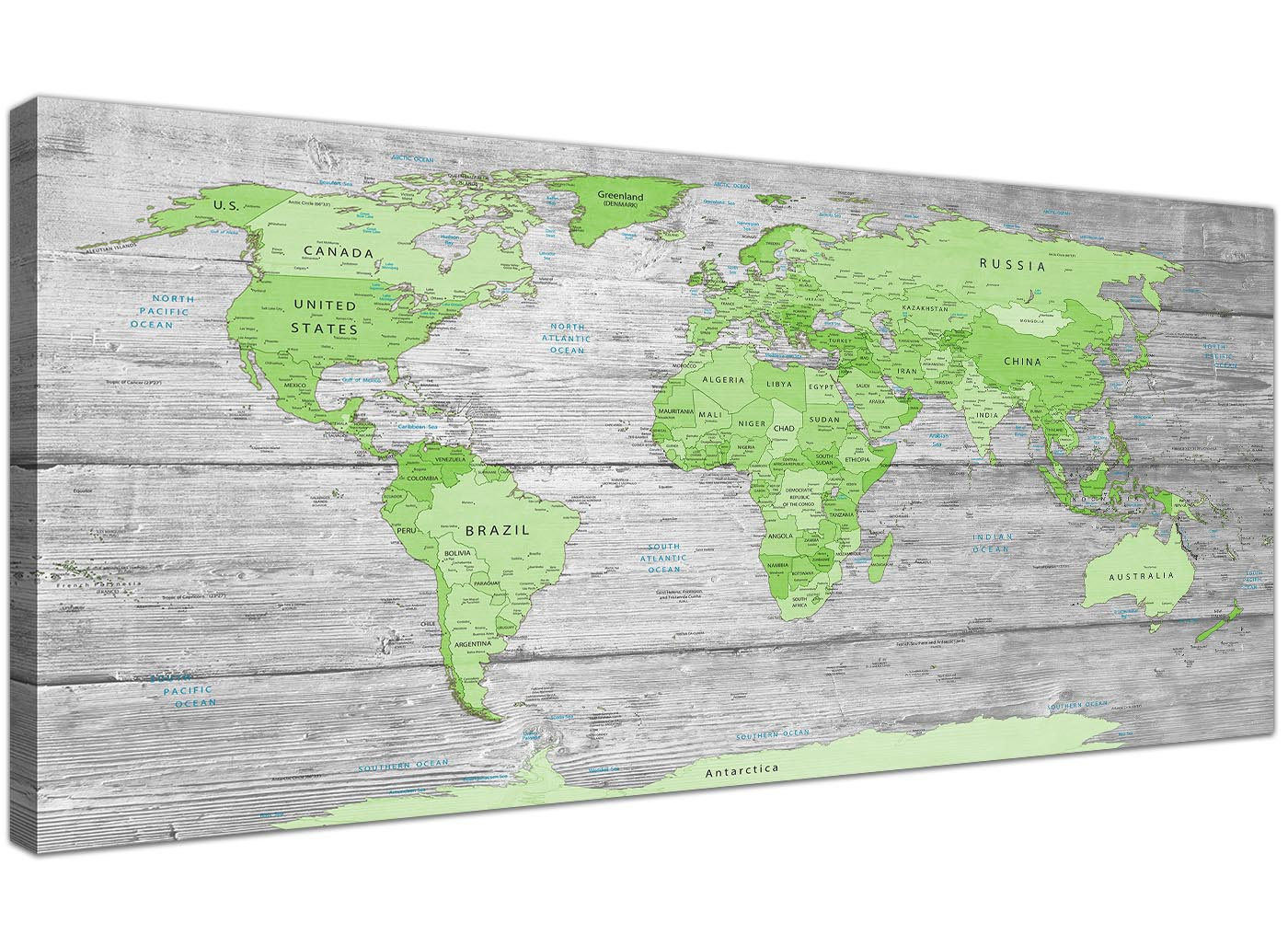 Large lime green grey world map atlas canvas wall art print 120cm large lime green grey world map atlas canvas wall art print modern 120cm wide 1301 gumiabroncs Image collections