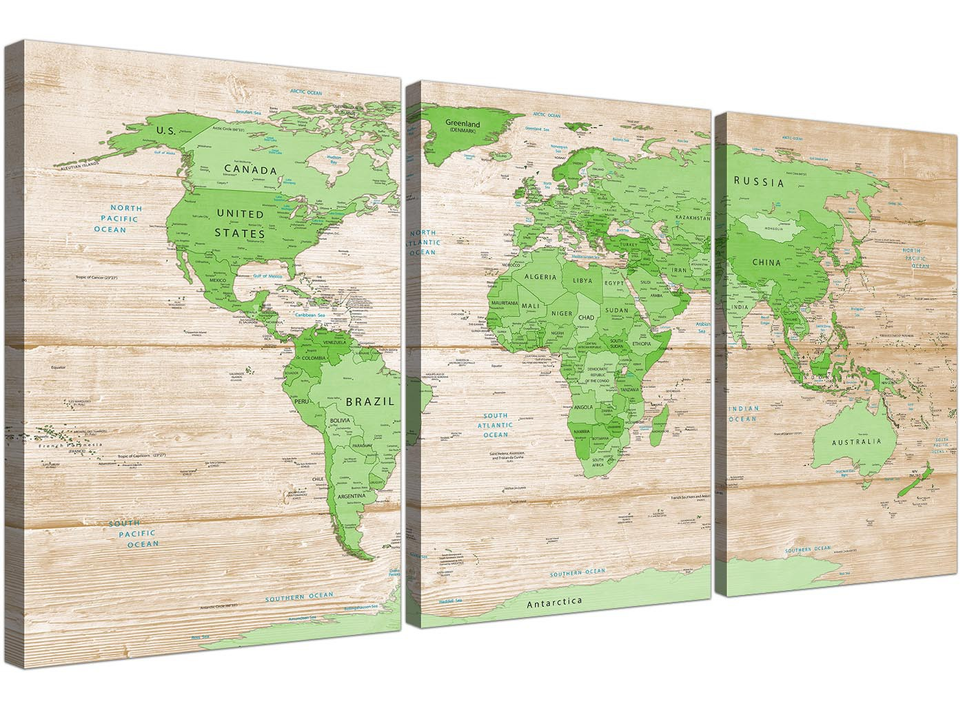 Large lime green cream world map atlas canvas wall art prints large lime green cream world map atlas canvas wall art prints multi set of 3 3310 gumiabroncs Gallery
