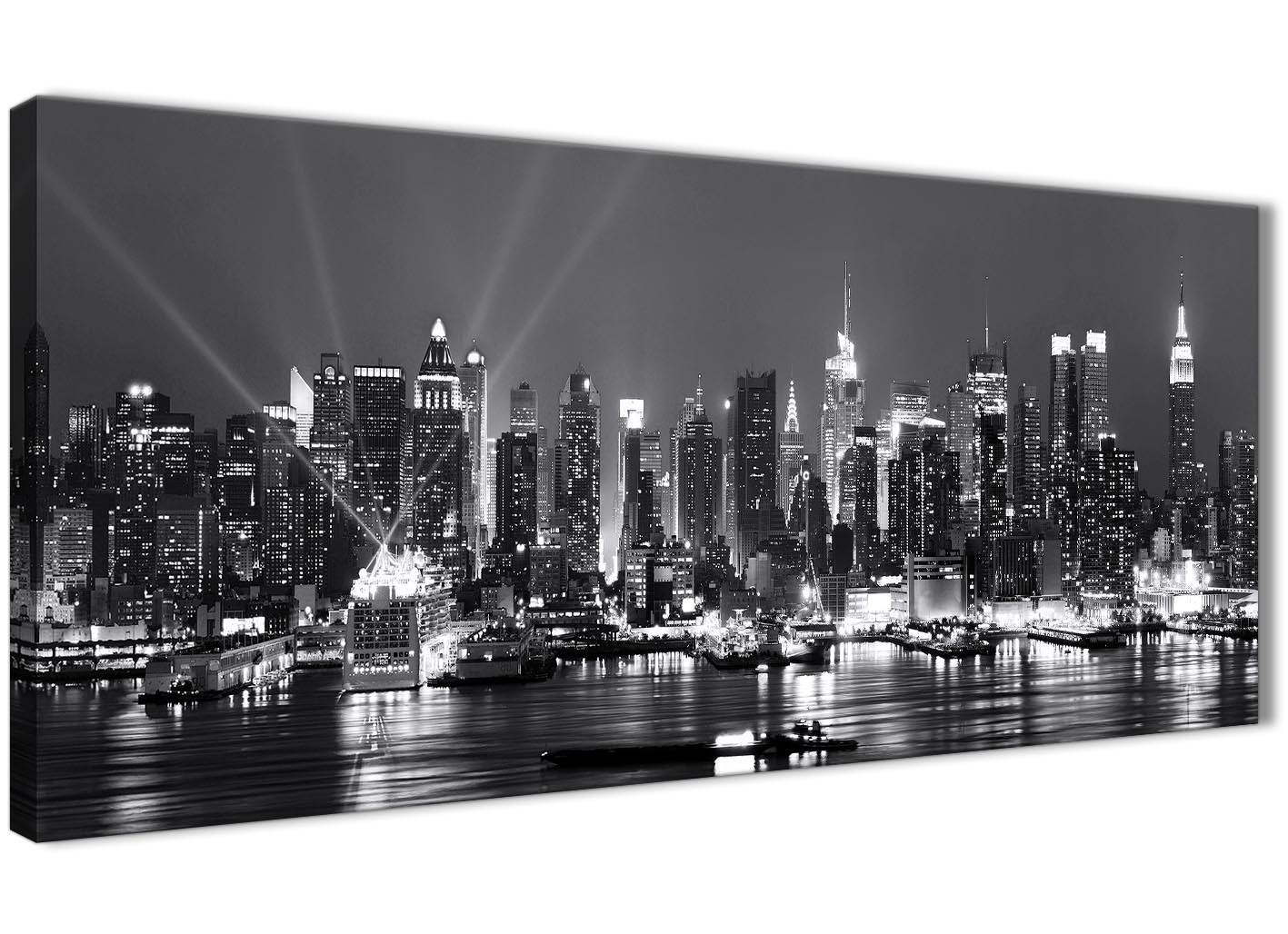 New York Hudson River Skyline Canvas Art Pictures