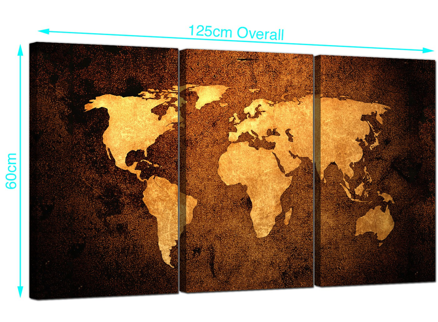 Vintage world map canvas wall art set of 3 for your bedroom item number 3188 gumiabroncs Gallery
