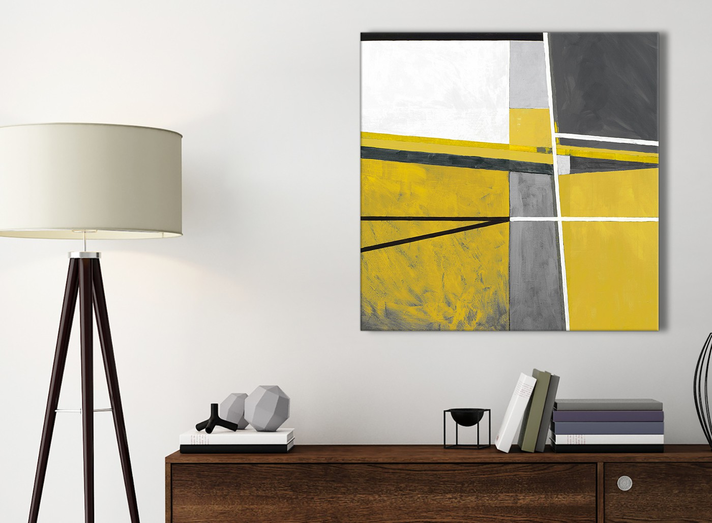 Mustard Yellow Grey Painting Bathroom Canvas Pictures Accessories ...