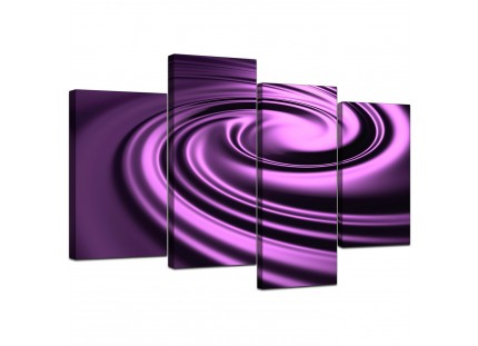Purple Black Swirl Design Abstract Canvas