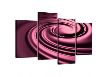 Plum Coloured Swirl Design Abstract Canvas