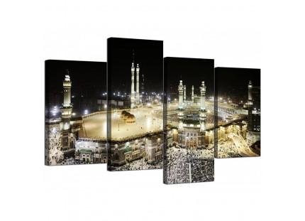 Islamic Canvas - Mecca at Night - Hajj Canvas