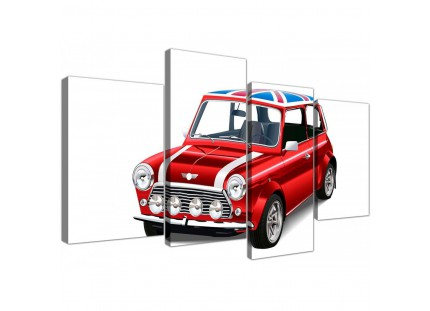 Mini Cooper Union Jack Canvas