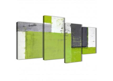 Green Grey Abstract Painting Canvas Wall Art Print