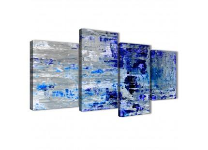 Blue Grey Abstract Painting Wall Art Print Canvas