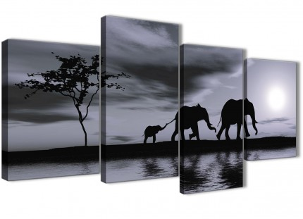 Cheap Black And White Bedroom Canvas Picture