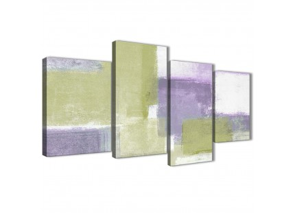 Green Purple Abstract Painting Canvas Wall Art Print