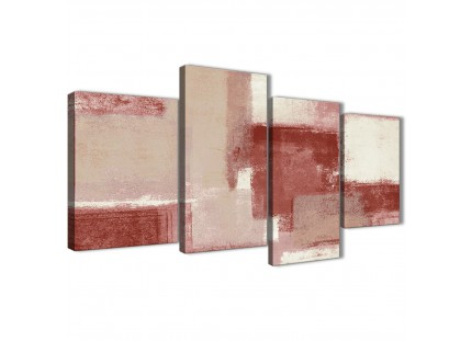 Red and Cream Living Room Canvas Wall Art