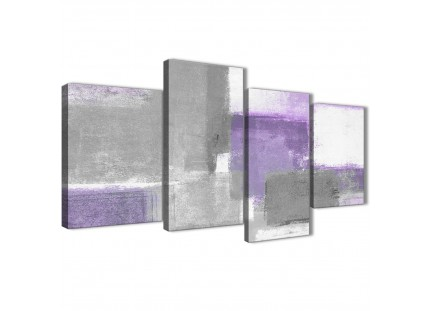 Purple Grey Painting Abstract Canvas Pictures