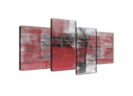 Red Black White Painting Bedroom Canvas Pictures Accessories