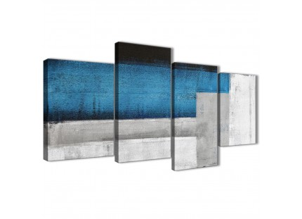 Blue Grey Abstract Painting Canvas Pictures