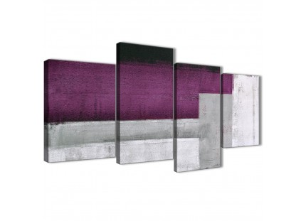 Purple Grey Painting Abstract Canvas Wall Art