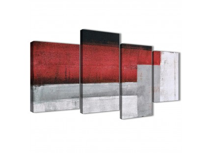 Red Grey Painting Living Room Canvas Pictures