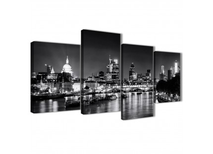 River Thames London Skyline Canvas Art Pictures