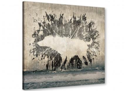 Banksy Wet Dog Graffiti Print Canvas Modern 49cm Square - 1s292s