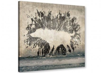 Banksy Wet Dog Graffiti Print Canvas Modern 64cm Square - 1s292m