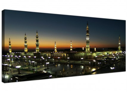 Large Al Masjid an Nabawi - Prophets Mosque Modern Canvas Art - 120cm - 1230