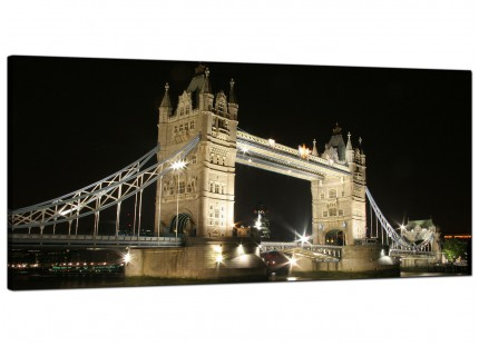 Large Black and White Tower Bridge London Cityscape Canvas Prints - 120cm - 1023