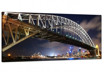 Large Sydney Harbour Bridge & Opera House Cityscape Canvas Prints - 120cm - 1041
