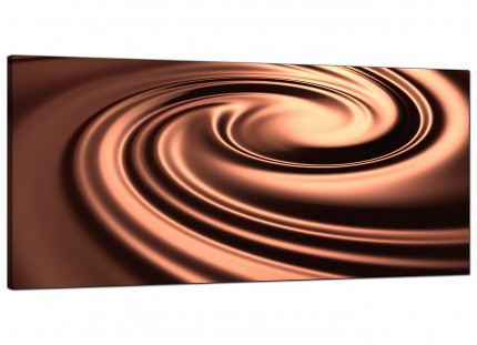 Large Brown Modern Swirl Design Abstract Canvas Art - 120cm - 1061