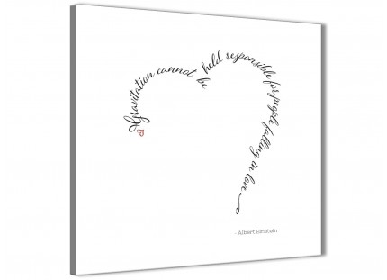 Canvas Prints Albert Einstein Love Quote - Word Art - 1s508s - 49cm Square Wall Art