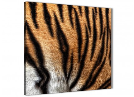 Canvas Pictures Tiger Animal Print - 1s472s - 49cm Square Wall Art