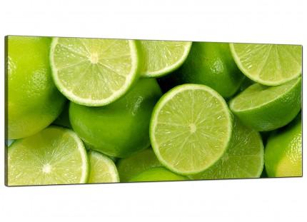 Large Lime Green Fresh Fruit Kitchen Modern Canvas Art - 120cm - 1113
