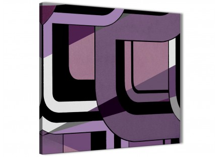 Lilac Grey Painting Kitchen Canvas Wall Art Accessories - Abstract 1s412s - 49cm Square Print