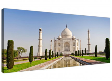 Large Taj Mahal Landscape in Blue Modern Canvas Art - 120cm - 1203