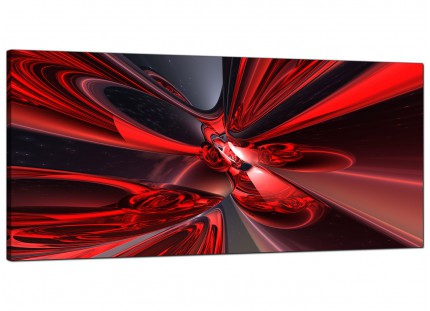 Large Red Black Modern Contemporary Abstract Canvas Art - 120cm - 1006