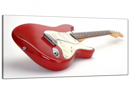 Large Red White Fender Electric Guitar Music Modern Canvas Art - 120cm - 1007