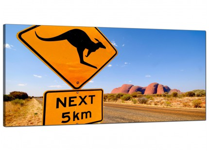 Large Ayres Rock Australia Outback Landscape Modern Canvas Art - 120cm - 1083