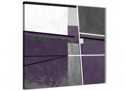 Aubergine Grey Painting Kitchen Canvas Wall Art Decorations - Abstract 1s392m - 64cm Square Print