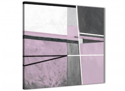 Lilac Grey Painting Stairway Canvas Pictures Decorations - Abstract 1s395m - 64cm Square Print