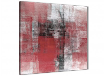 Red Black White Painting Living Room Canvas Wall Art Decor - Abstract 1s397m - 64cm Square Print