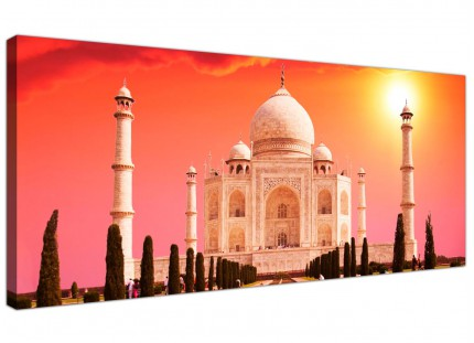 Large Taj Mahal Sunset Landscape Modern Canvas Art - 120cm - 1193