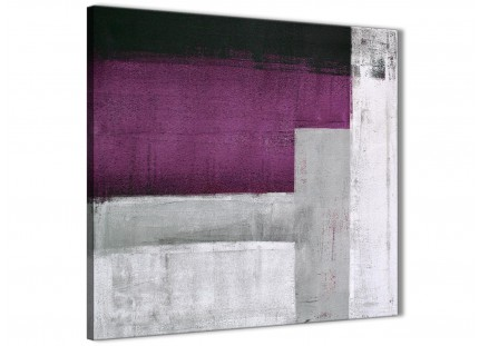 Purple Grey Painting Abstract Bedroom Canvas Wall Art Decor 1s427l - 79cm Square Print
