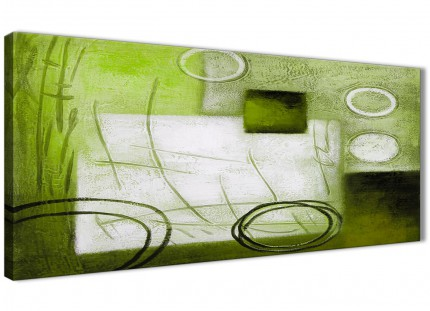 Lime Green Painting Bedroom Canvas Wall Art Accessories - Abstract 1431 - 120cm Print