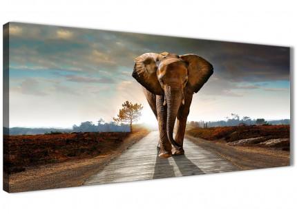 Large African Elephant - Modern Landscape Modern Canvas Art - 120cm - 1209