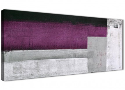 Purple Grey Painting Bedroom Canvas Wall Art Accessories - Abstract 1427 - 120cm Print