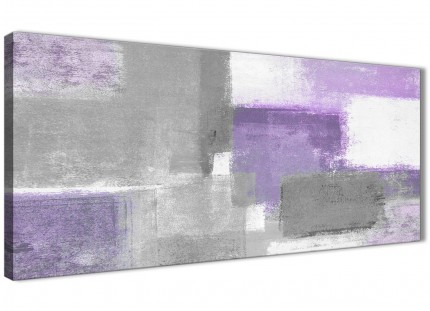 Purple Grey Painting Living Room Canvas Pictures Accessories - Abstract 1376 - 120cm Print