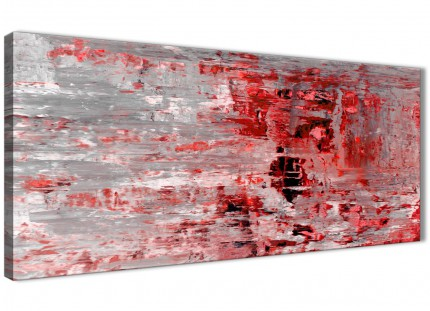 Red Grey Painting Living Room Canvas Wall Art Accessories - Abstract 1414 - 120cm Print