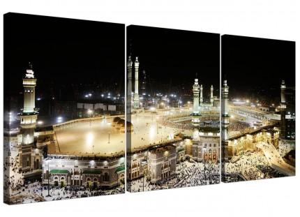Modern Islamic Canvas - Mecca at Night - Hajj Canvas - 3 Set - 125cm - 3190