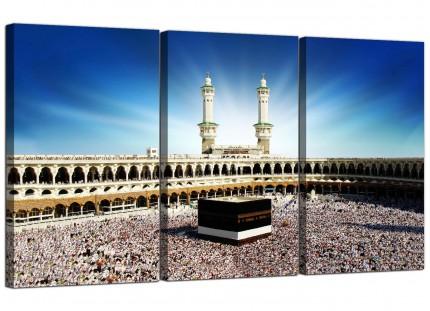 Modern Islamic Canvas - Hajj Pilgrimage Kaaba Canvas - 3 Set - 125cm - 3191