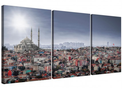 Modern Istanbul Skyline - Islamic Mosque City Canvas - 3 Set - 125cm - 3274