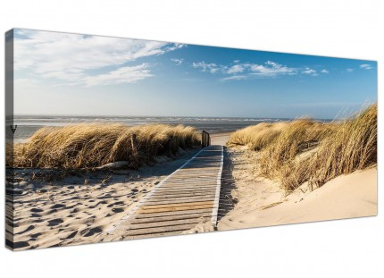 Large Pathway to the Ocean - Landscape Beach Modern Canvas Art - 120cm - 1197